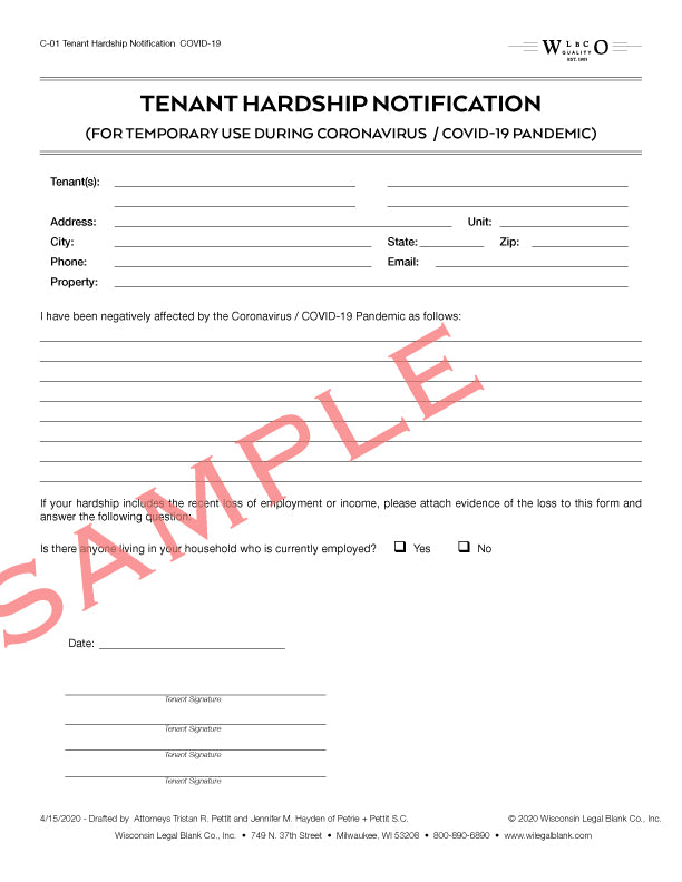 C-01 Tenant Hardship Notification