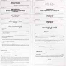 Contractors Lien Forms Package