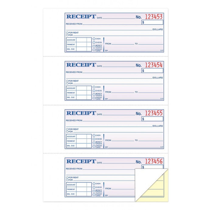 DC1182 Money & Rent Receipt Book