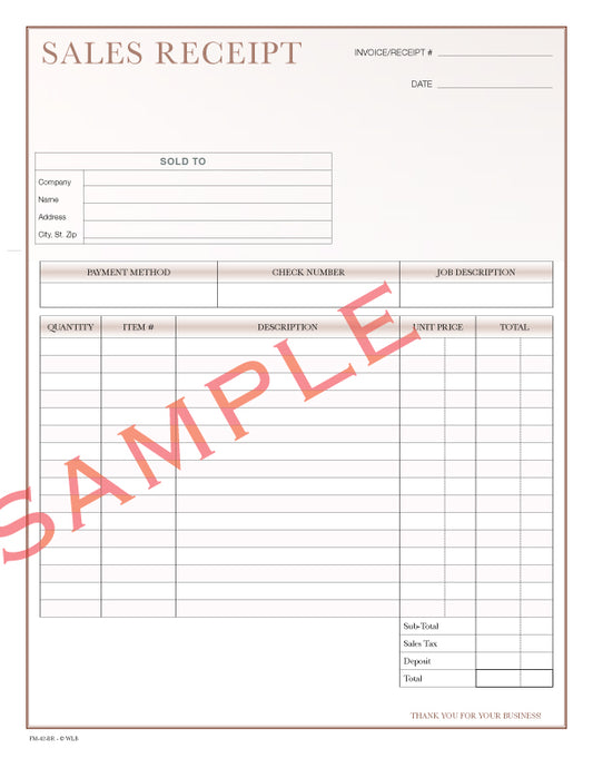FM-42 Sales Receipt Form