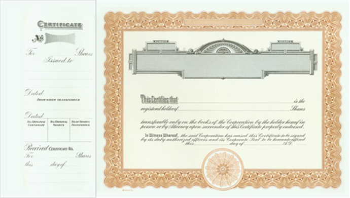 Goes® 721 Brown Russet Panel Stock Certificates