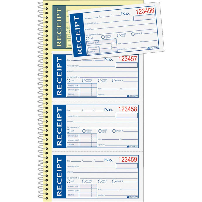 SC1188SWS Money Receipts Self Stick Book
