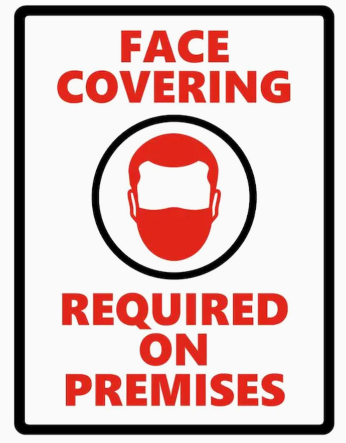 Face Covering Required On Premises Sticker 4