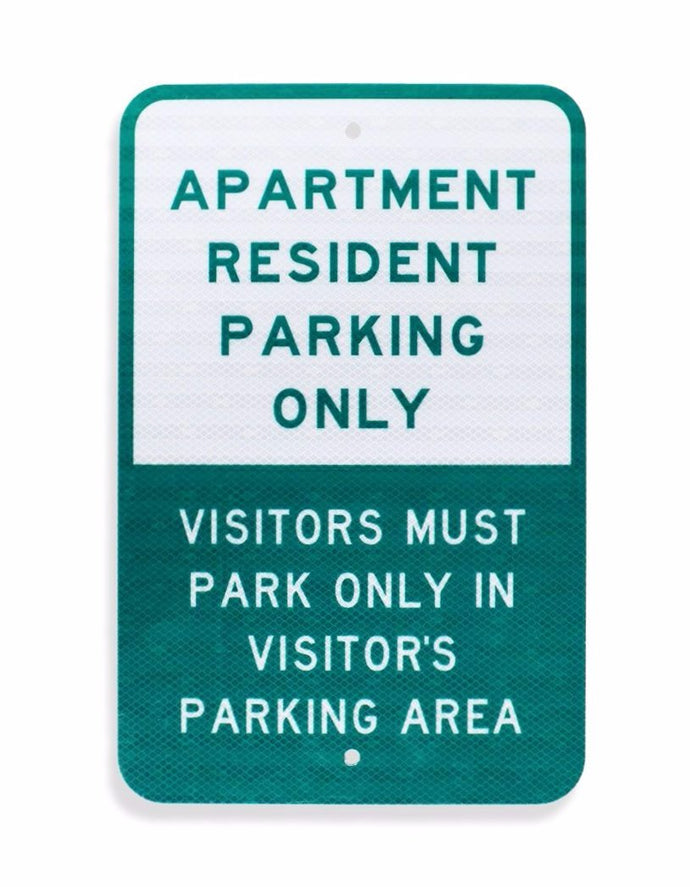 Apartment Resident Parking Only 12 x 18 EGP Aluminum Sign