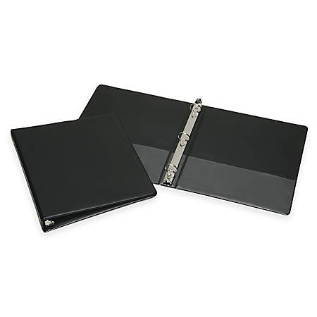 Black One Inch 3- Ring Binder