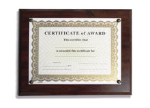 Plaque for Documents Certificates Awards