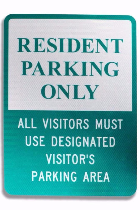 Resident Parking Only 12 x 18 EGP Aluminum Sign