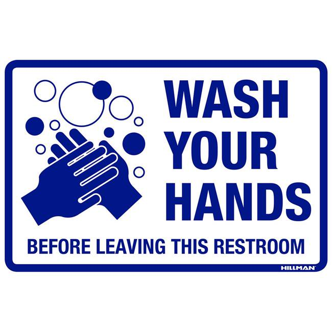 Wash Your Hands Before Leaving This Restroom Sign 8
