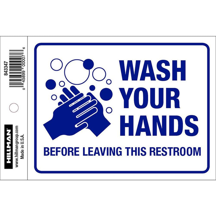 Wash Your Hands Before Leaving This Restroom Sticker 6