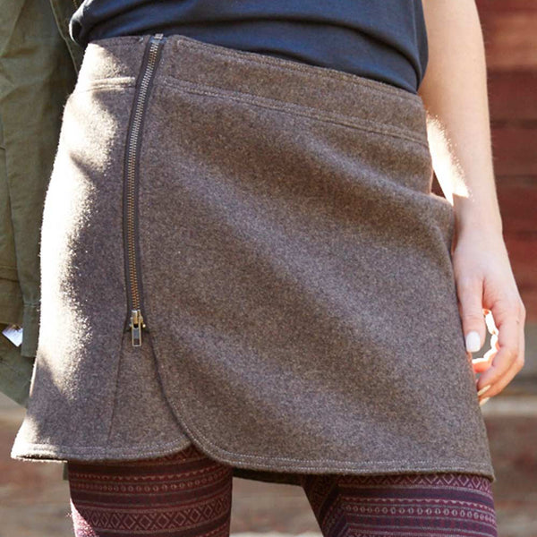 Above the Curve: The Wool Zip Skirt
