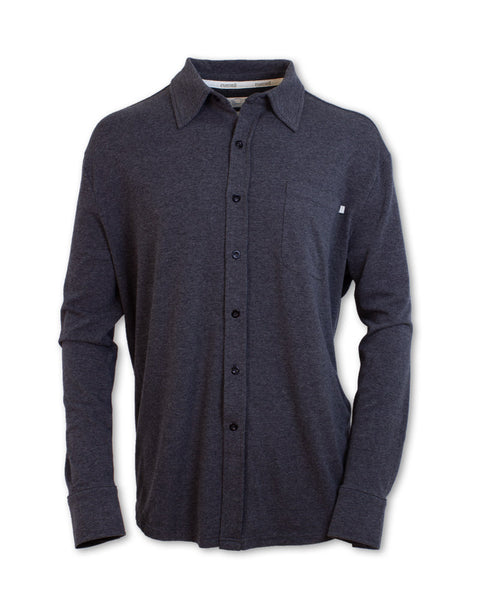 Performance Knit Button-Up