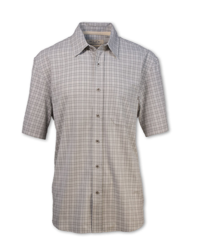 Short-Sleeved Quick Dry Micro-Plaid