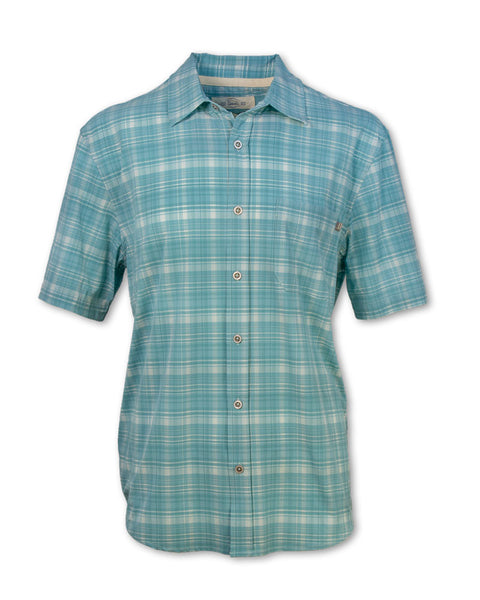 Short-Sleeved 4-Way Stretch Plaid