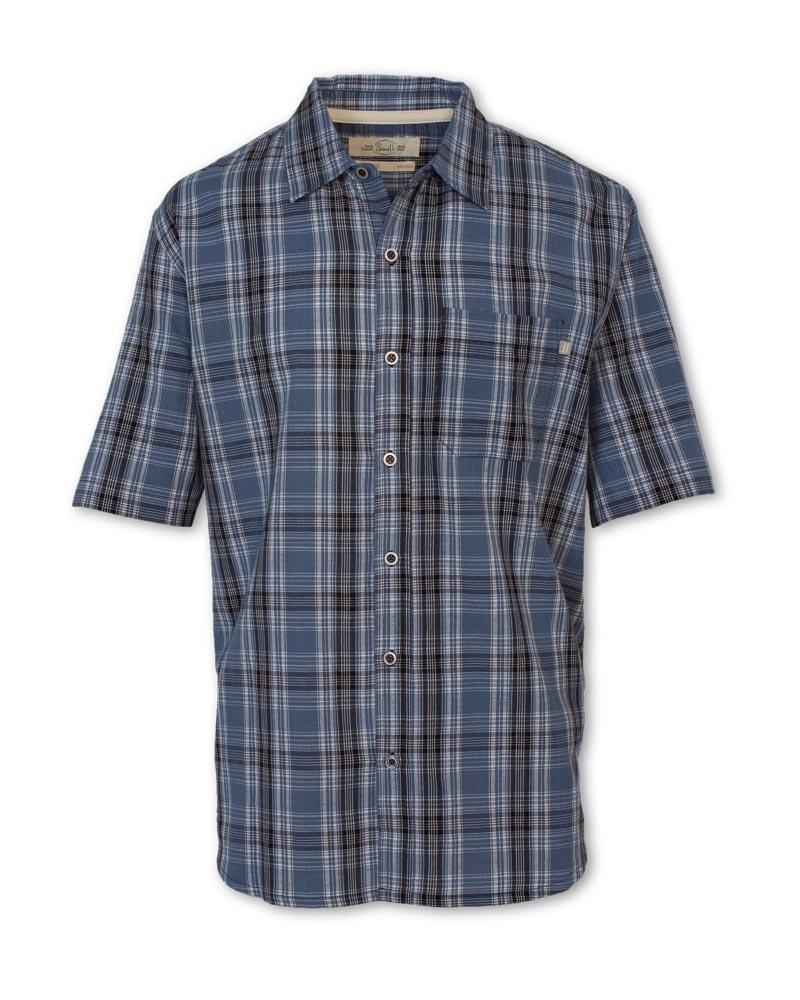 Navy Madras Plaid Shirt