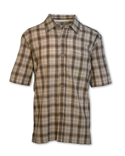 Brown Madras Plaid Shirt