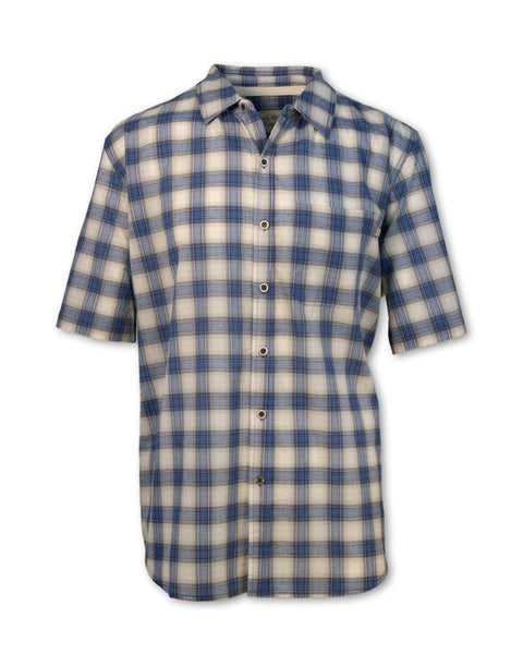 Blue Madras Plaid Shirt