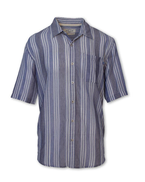 PRE-ORDER! Navy Striped Madras Shirt