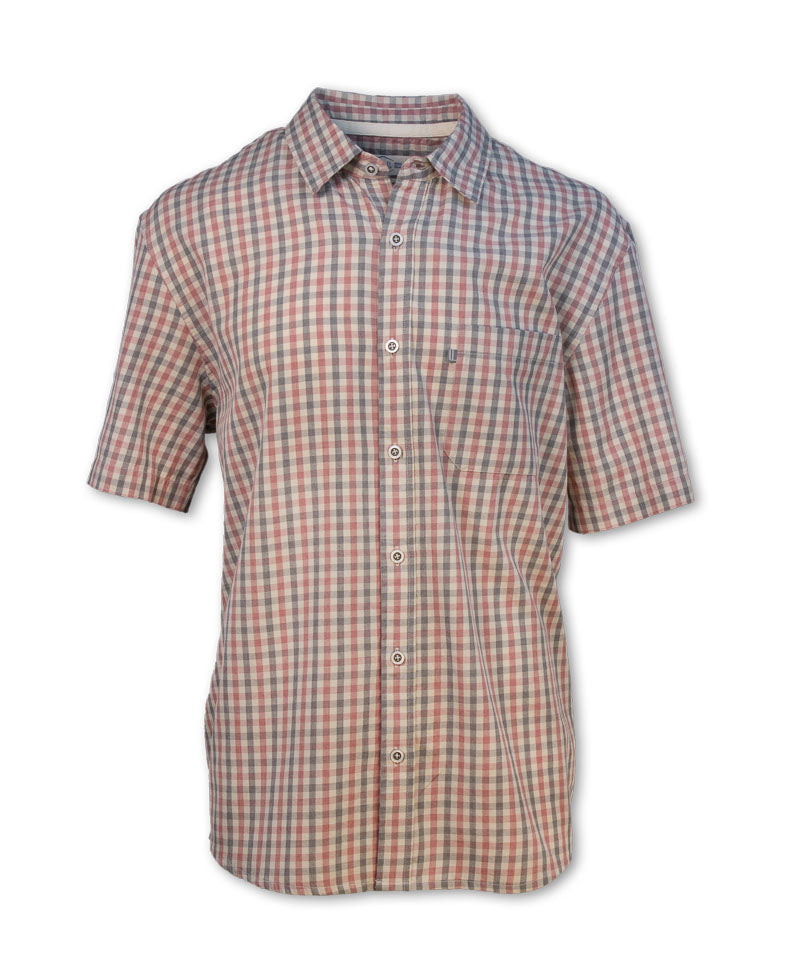 Short-Sleeved Checkered Shirt