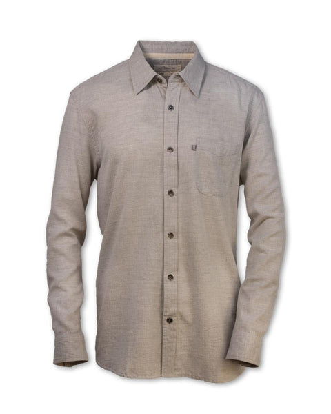 Herringbone Button-Up Shirt