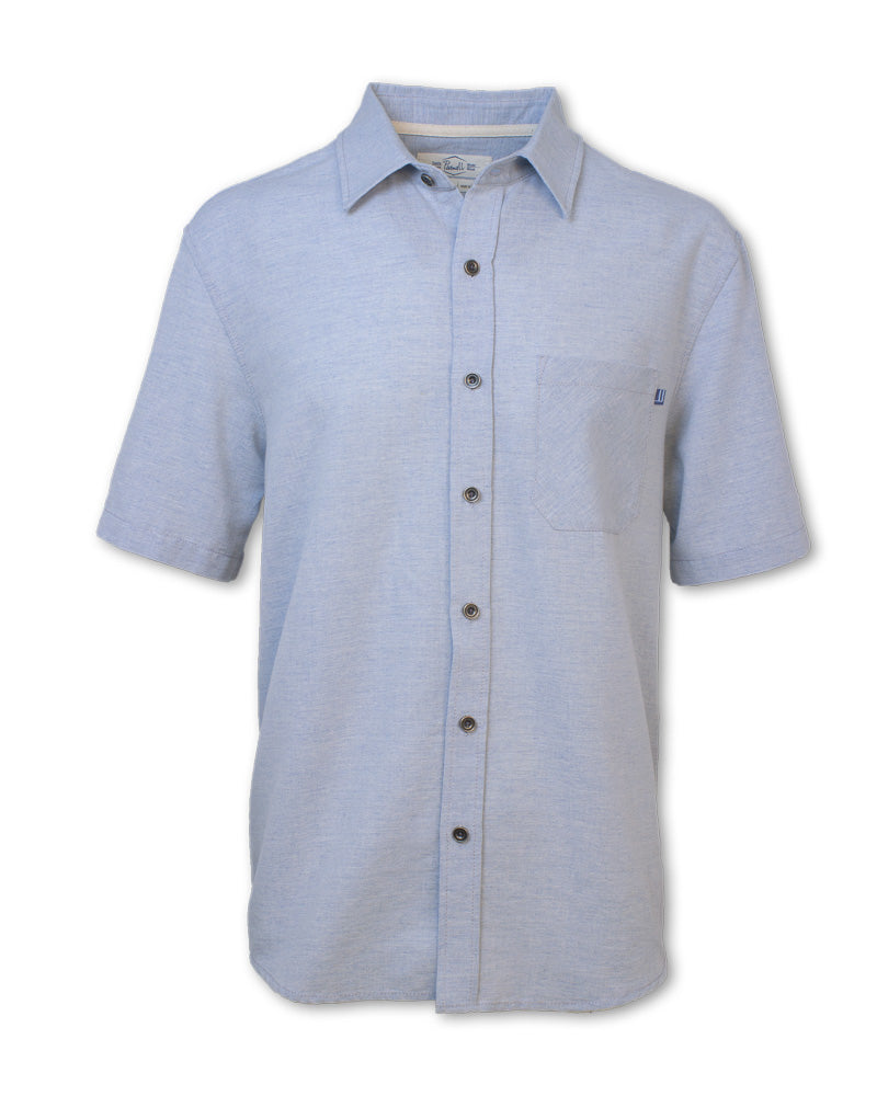 Short-Sleeved Linen Blend Shirt