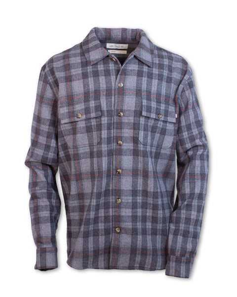Double Pocket Plaid Wool Shirt