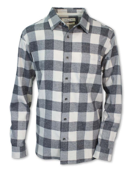 Heathered Buffalo Check Flannel
