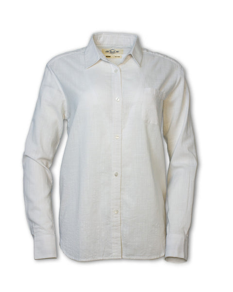 Classic White Button-Up Shirt