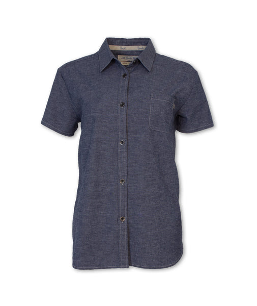 Short-Sleeved Classic Chambray