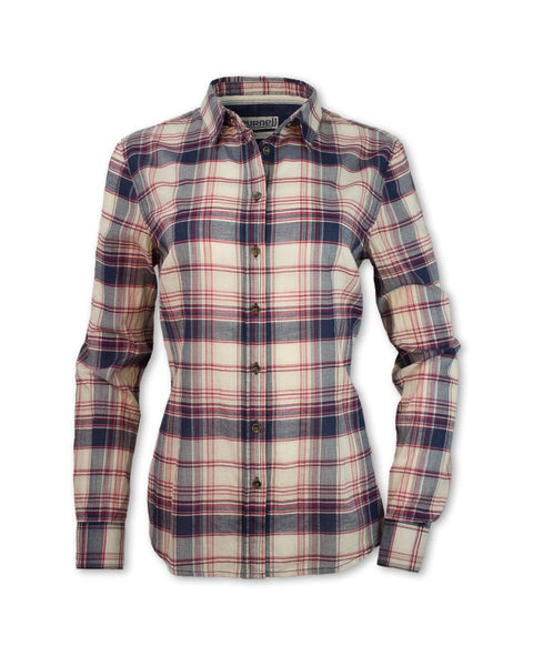 Double Placket Madras Plaid Shirt