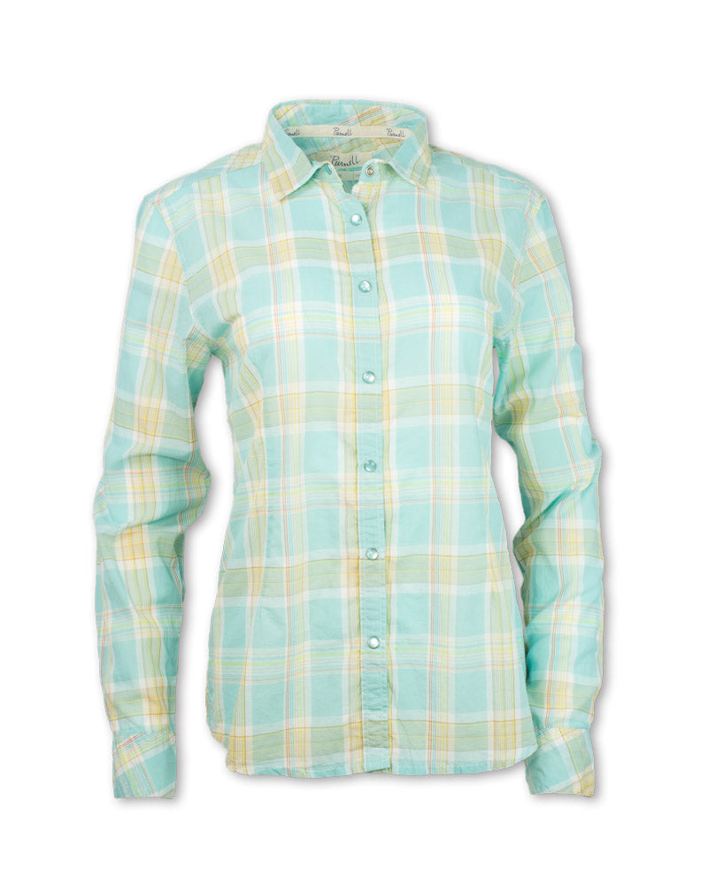 Aquamarine Madras Plaid Shirt