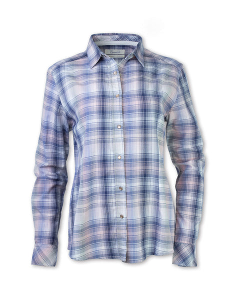 Pink/Navy Madras Plaid Shirt