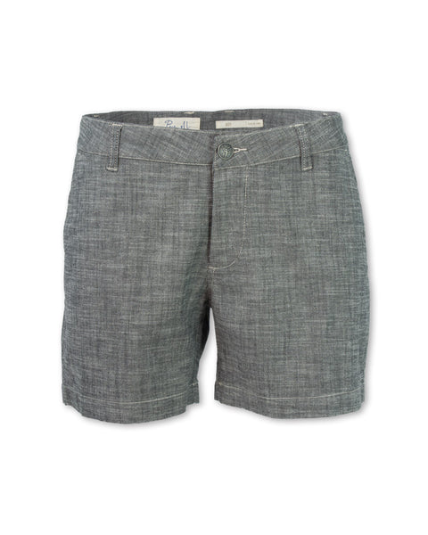 Crosshatch Chambray Short