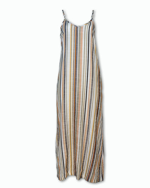 Multi-Stripe Maxi Dress