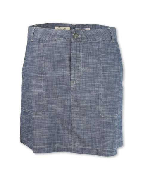 Crosshatch Chambray Skirt
