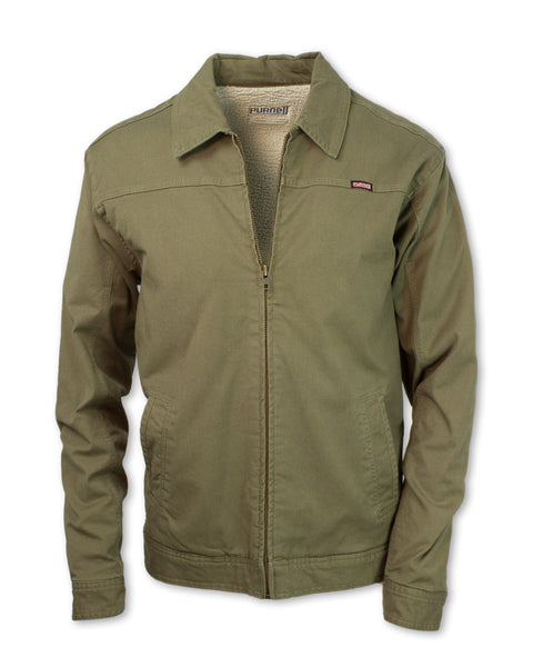 Canvas Sherpa-Lined Jacket