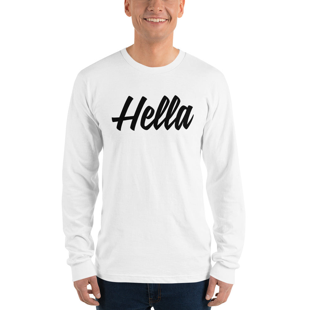 Hella White Long sleeve t-shirt (unisex)