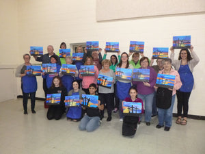 Fundraising Painting Party at Ford St. Church in Lapel, IN