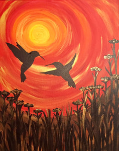 "Love - ""Hummingbirds at Sunset"""