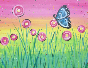 "Flowers - ""Pink Spring Butterfly"""