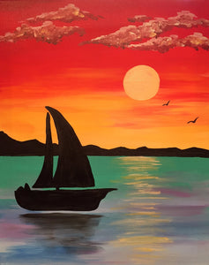 "Water - ""Sailing Away at Sunset"""