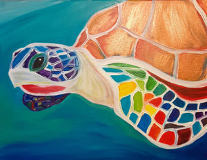 """Sea Turtle"" Kids Painting Party July 19 at 7:30 pm"