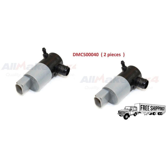 REAR WINDSCREEN WASHER MOTOR PUMP SET x2