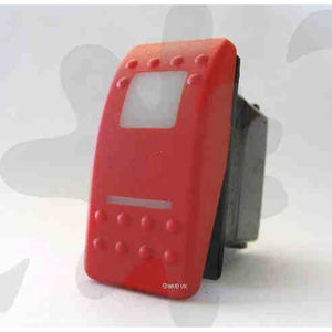 MUD UK RED SWITCH ROCKER