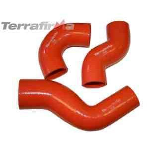 TERRAFIRMA DEFENDER TD5 SILICONE TURBO AND INTERCOOLER HOSE KITS (ORANGE)