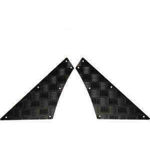 MAMMOUTH DEFENDER 110 REAR QUARTER CHEQUER PLATES BLACK