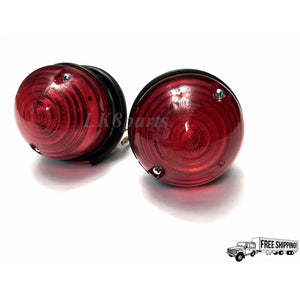 REAR LAMP ASSEMBLY- STOP & TAIL LIGHTS RED SET OF 2