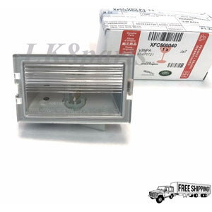 LICENSE PLATE LAMP LIGHT GENUINE