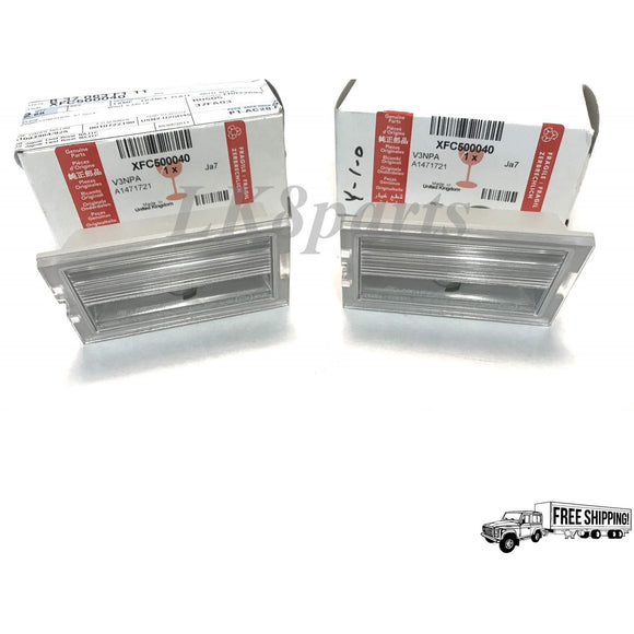 LICENSE PLATE LAMP SET GENUINE