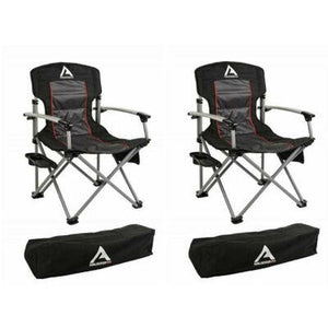 Set of 2 ARB 10500111A Air Locker Camping Chairs with Storage Bag - Black New