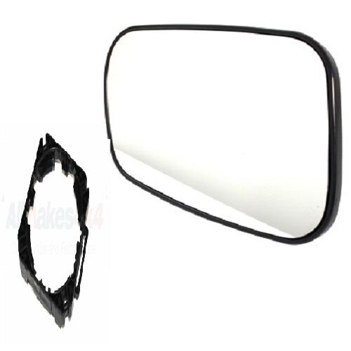 DOOR MIRROR GLASS RH WITH MOUNTING CLIP